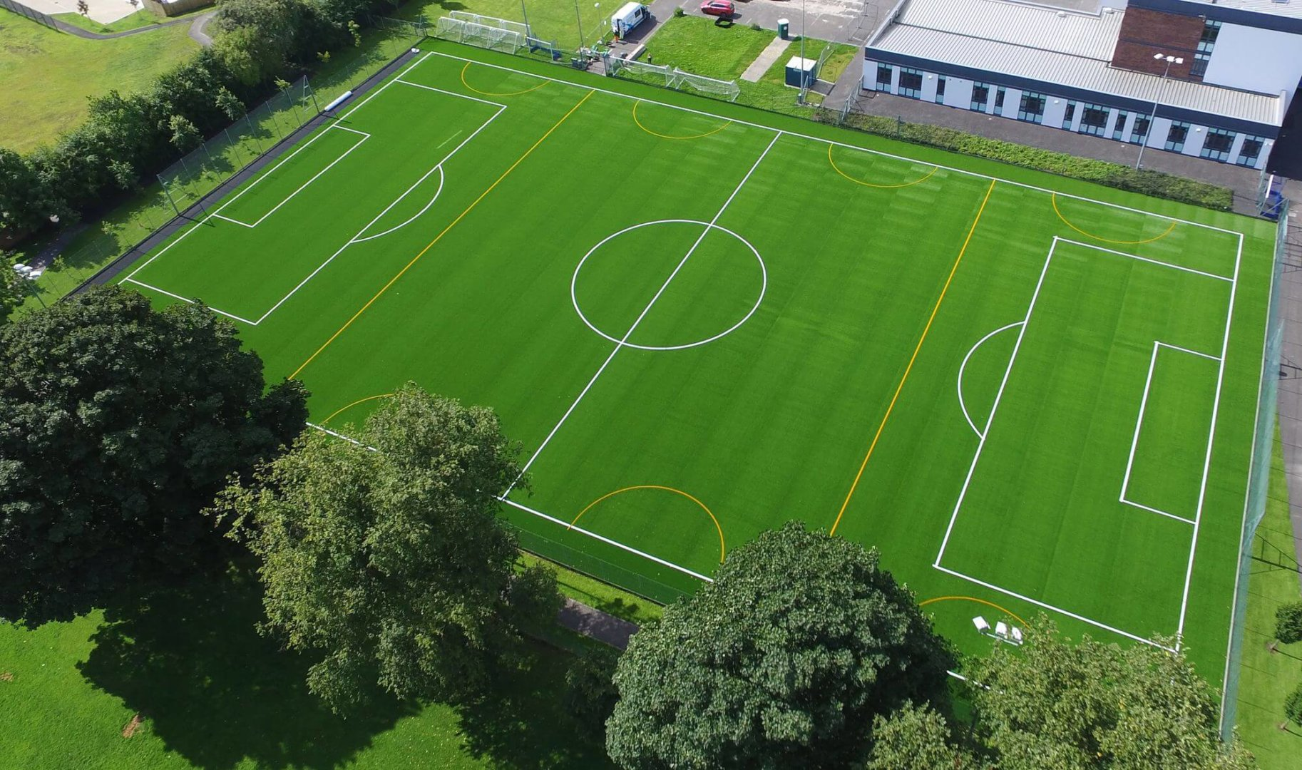 Top view Burton Albion Community Trust Football field