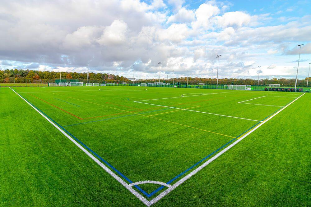 Multi Sports soccer field with TigerTurf TigerWeave